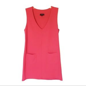 Topshop Neon Hot Pink Pocket Tank Sleeveless Dress